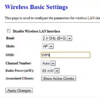 configurar SSID wireless basic settings